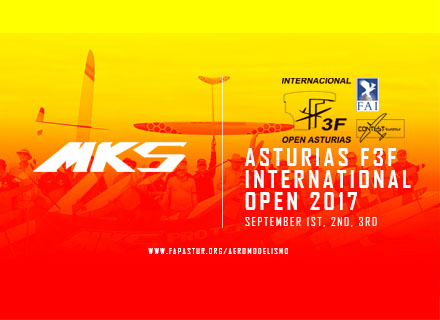 MKS is pleased to support 2017 Asturias F3F Open world cup & Eurotour again!
